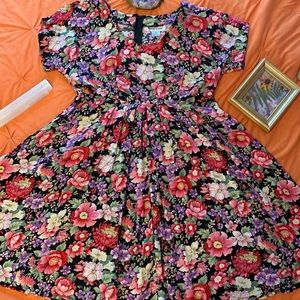 Vintage 80's Empire Waist Baby-Doll Dress